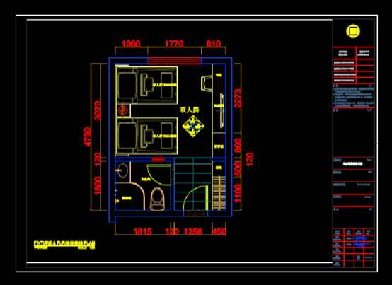 酒店精装项目的建筑设计CAD图纸