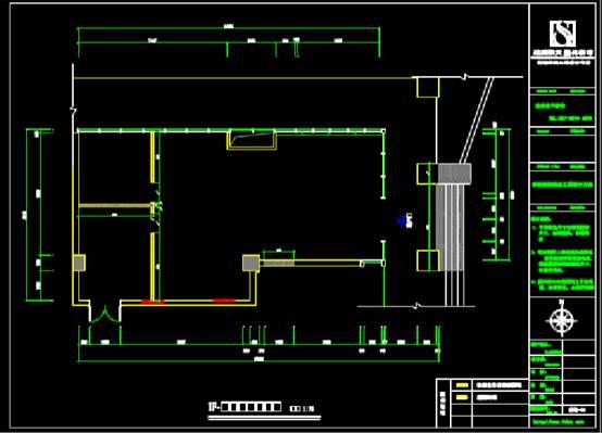 软件园平面的CAD建筑装饰图纸