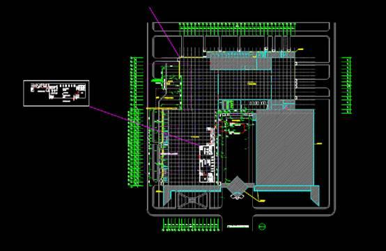 建筑CAD图纸下载之施工总平面布置图