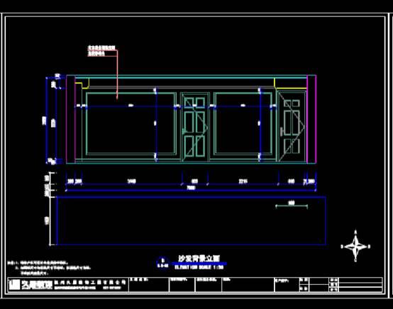 立面标准的CAD建筑装饰图纸