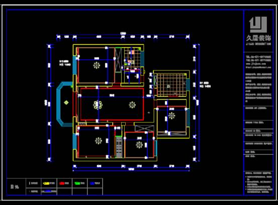 建筑CAD图纸下载之室内装修户型图