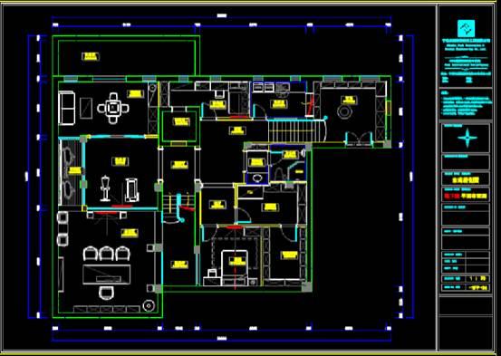 CAD建筑施工图之地下室家装施工