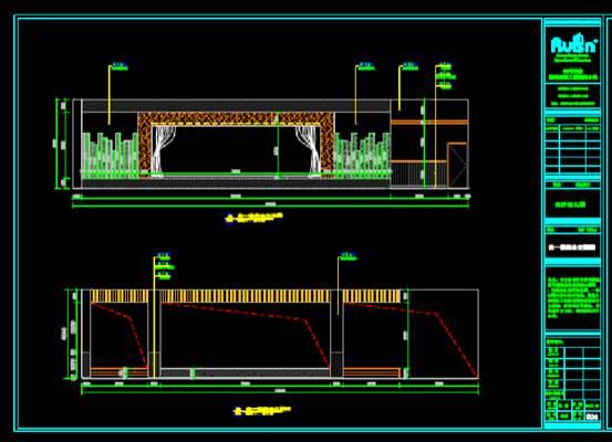 立面布置设计的CAD建筑装饰图纸