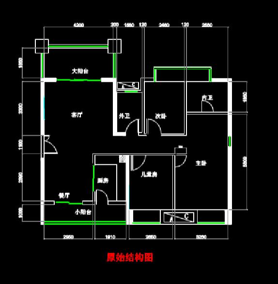 家装平面的CAD建筑施工图