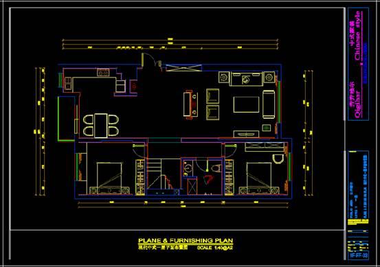 某房屋的CAD建筑装饰图纸