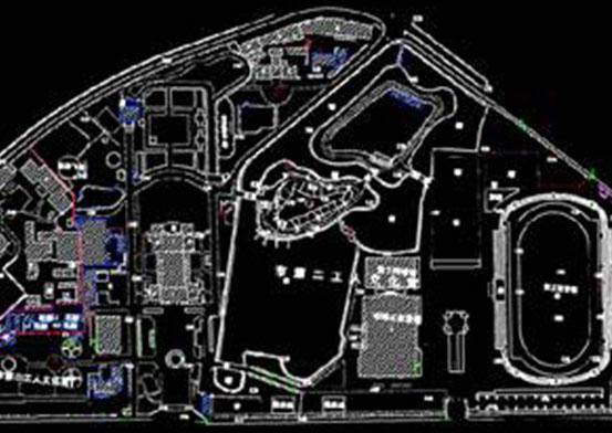 某公园的建筑CAD图纸下载
