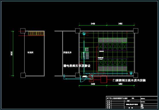 某机房的建筑设计CAD图纸