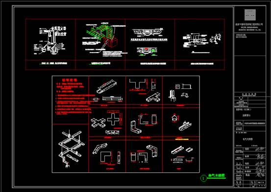 CAD建筑施工图之工程建筑项目的CAD电气图