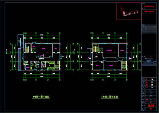 某社区活动中心的建筑设计CAD图纸