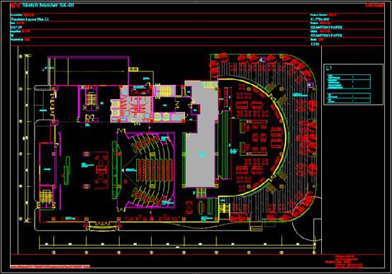 某剧院的建筑设计CAD图纸