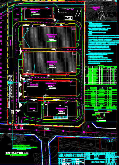CAD建筑图纸下载之某建筑室内外电气布置图