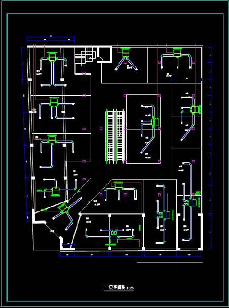 某商场的CAD暖通图纸