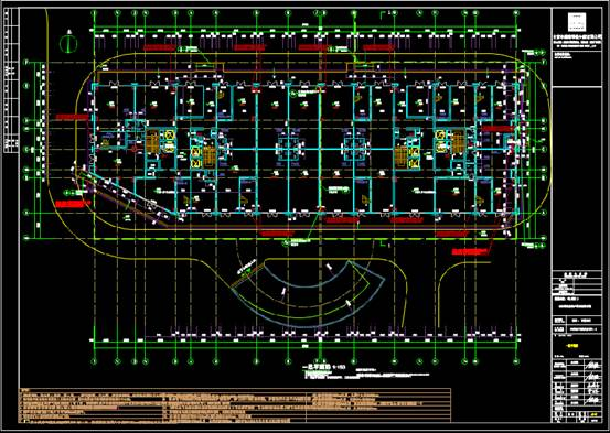 某书苑工程施工项目的建筑设计CAD图纸