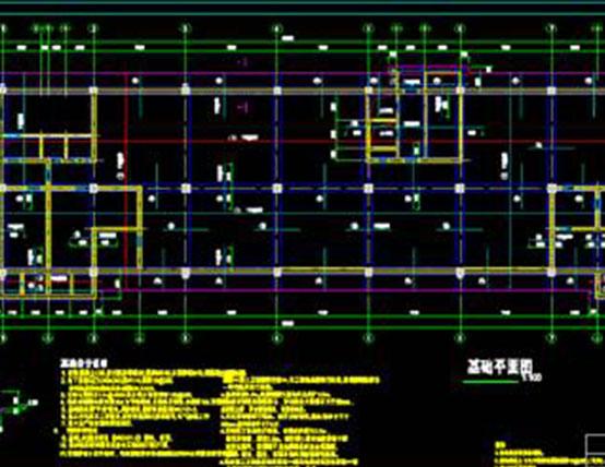 结构设计CAD图纸查之筏形基础设计