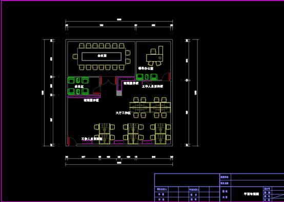 CAD建筑图纸快速查看之办公室平面布置CAD图纸