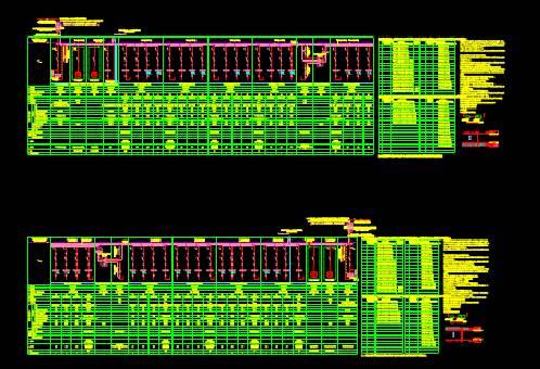 CAD图纸快速查看之某工程项目的压配电系统图