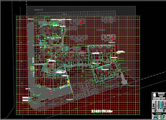 给排水CAD图纸之某工程项目的CAD管线总图