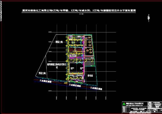 给排水CAD图纸设计之某化工公司的CAD平面图设计