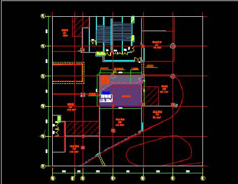 CAD暖通图纸之某餐饮公司的CAD暖通图纸