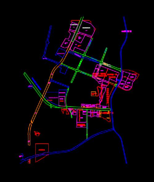建筑设计CAD图纸之工业园数字化
