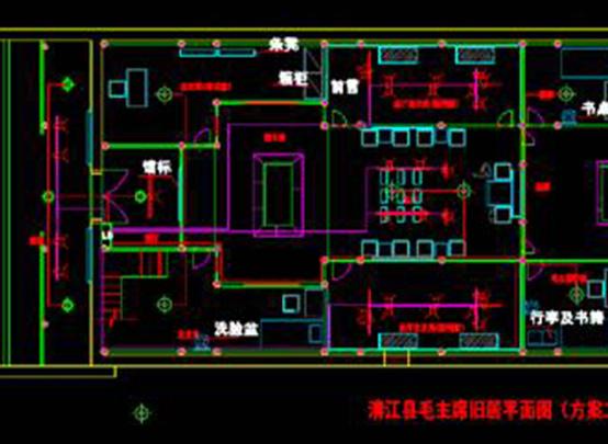 CAD图纸快速查看之名人故居CAD电气图