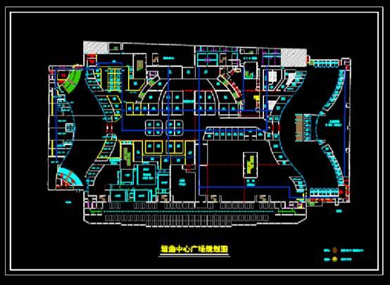 CAD图纸快速查看之某地中心广场CAD规划图