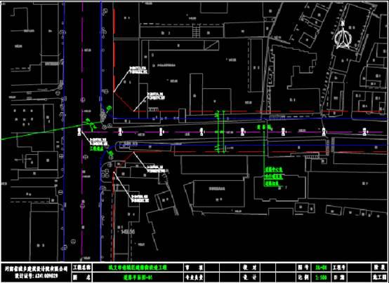 路桥设计CAD图纸之某地建新街平面CAD图纸