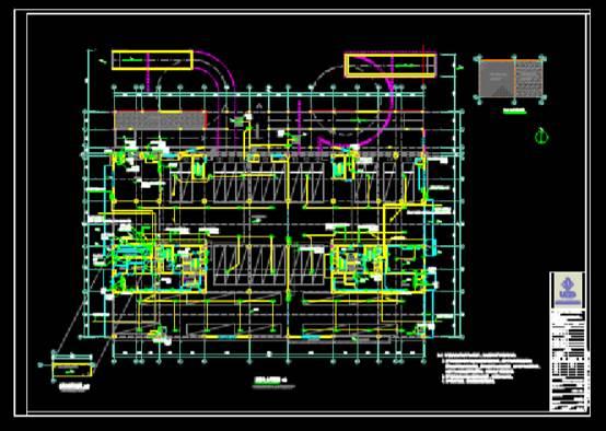 建筑设计CAD图纸之电力平面图