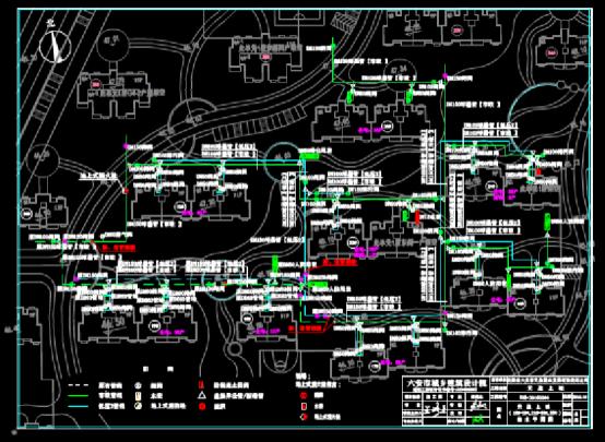 给排水CAD图纸之某住宅小区楼栋给水平面图