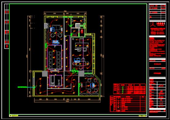 CAD建筑施工图之空调位置图