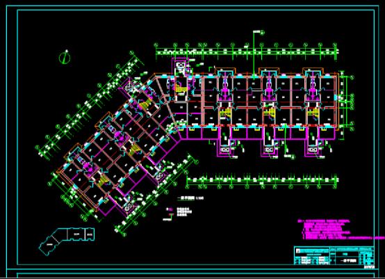建筑CAD图纸下载之居民区吊篮设计平面图