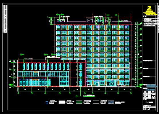 建筑CAD图纸下载之单体施工图