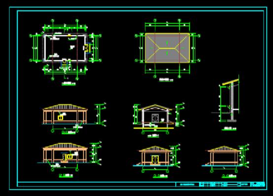CAD快速查看建筑图之配电房结构