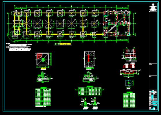 结构设计CAD图纸查看之厂房框架结构