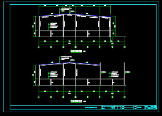 结构设计CAD图纸查看之钢架详图