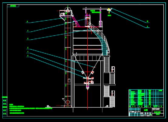 暖通设计CAD图纸之燃烧炉布置图