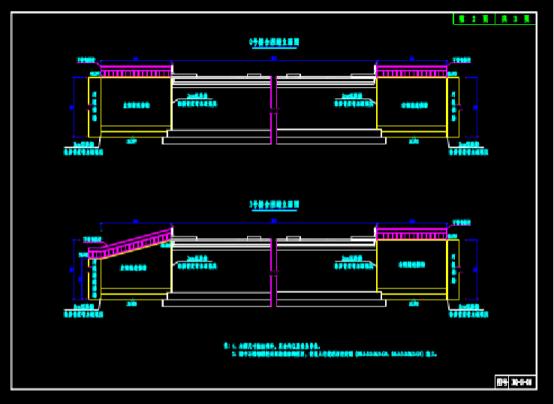 CAD图纸快速查看之桥梁挡墙设计图纸