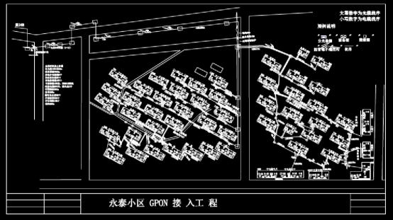 建筑CAD图纸下载之铁通光缆
