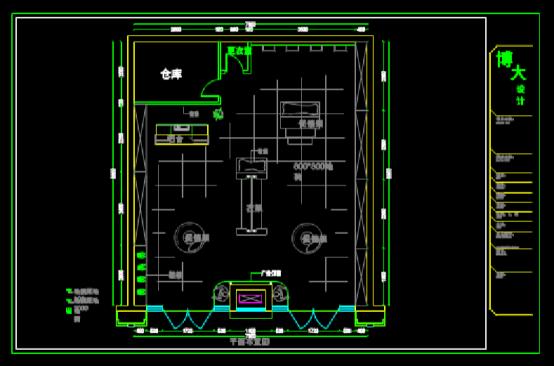 CAD绘制室内设计图纸之商业空间装修