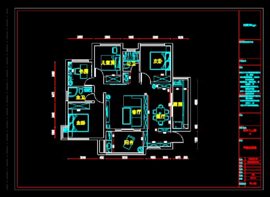 CAD装饰设计图下载之平面户型图