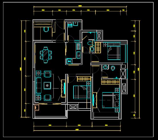 CAD装饰设计图下载之平面布置图