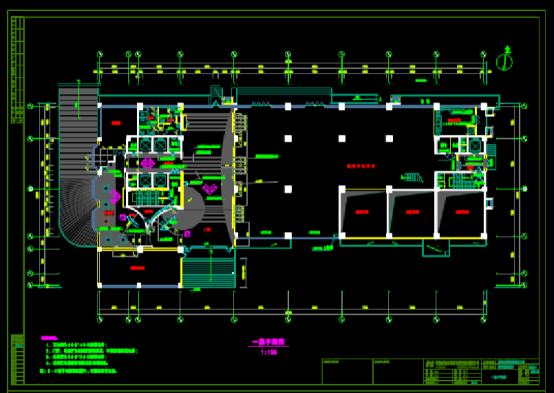 CAD装饰设计图下载之大楼原图设计