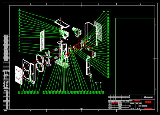 CAD机械图纸之某产品设计爆炸图