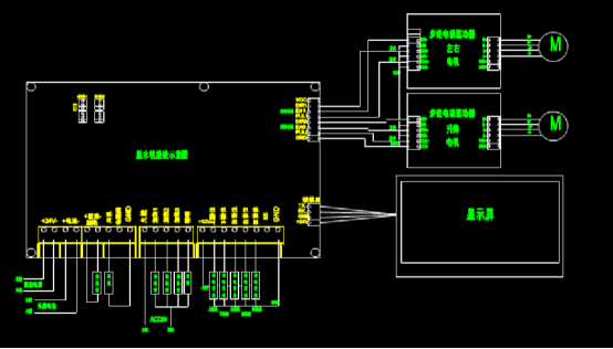 建筑设计CAD图纸之脱水机接线示意图