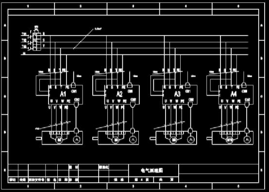 建筑设计CAD图纸之电气原理图