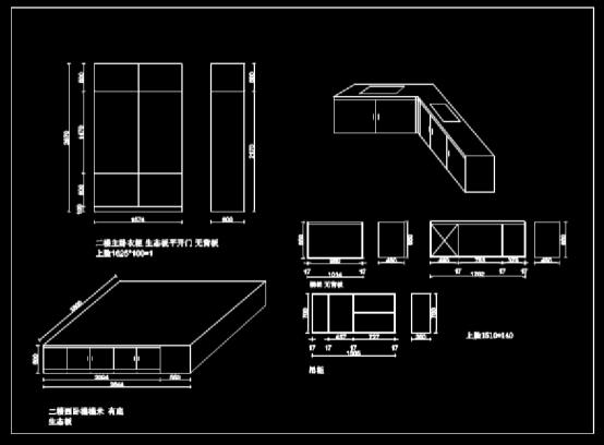 CAD快速查看机械图之榻榻米设计方案