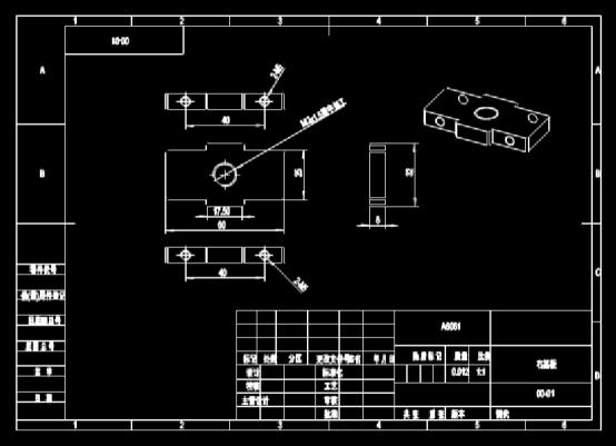 CAD机械图下载之机械零部件右基板