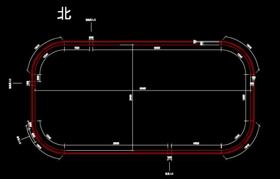建筑CAD图纸下载之某体育中心安装示意图