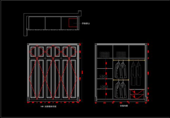CAD绘制室内设计图纸之某单元家具布置图