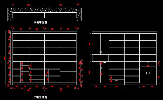 CAD绘制室内设计图纸之某单元家具设计图